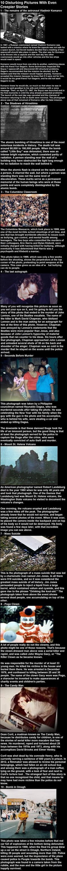 10 Disturbing Pictures With Even Creepier Stories The Columbine one is fake, but the rest make it an interesting article. Creepy Stories, Ghost Stories, The Babadook, Spooky Scary, Interesting History, Interesting Facts, Wtf Fun Facts, Urban Legends, The More You Know