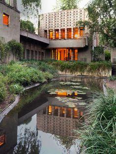 Frank Lloyd Wright, - La Miniatura house in California.  Art Experience NYC  www.artexperience...