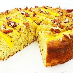 koolhydraatarme mango cake Mango Cake, Healthy Baking, High Tea, Cake Cookies, Cornbread, Banana Bread, French Toast, Paleo, Low Carb