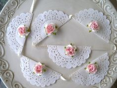 Items similar to birthday party decoration shabby chic banners for birthday party or birthday ornament mothers day on etsy - Birthday party decoration A set of six small doilies have been threaded together to make so cute ba - Paper Doily Crafts, Doilies Crafts, Paper Doilies, Cumpleaños Shabby Chic, Shabby Chic Banners, Birthday Party Decorations, Birthday Parties, Decoration Shabby, Doily Wedding