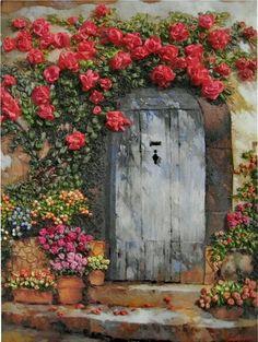 Old door .