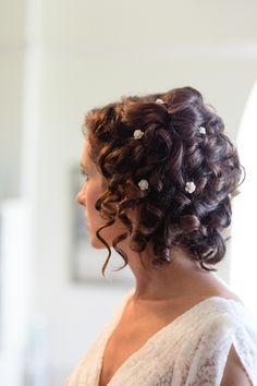 gorgeous curls + flower pins