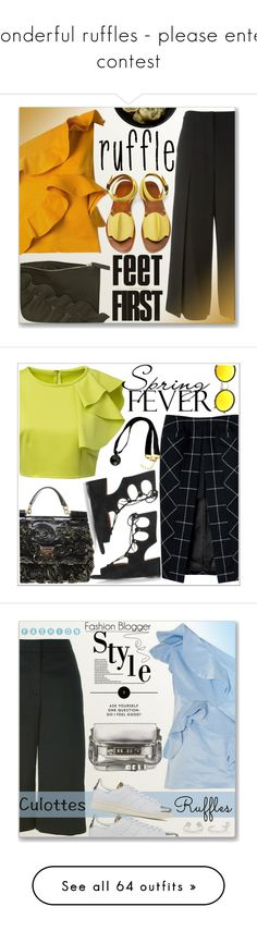 """""""wonderful ruffles - please enter contest"""" by tinkertot ❤ liked on Polyvore featuring MSGM, T By Alexander Wang, TRACEY NEULS, ruffles, polyvoreeditorial, Poyvore, Dolce&Gabbana, adidas Originals, Proenza Schouler and Cornelia Webb"""