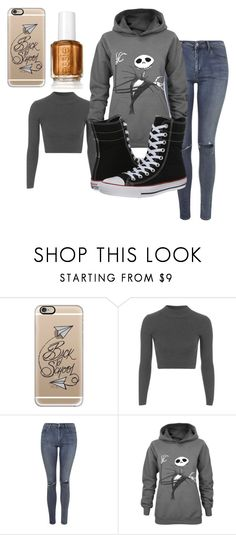 """""""Back to school"""" by kayleighmw on Polyvore featuring Casetify, Topshop and Converse"""