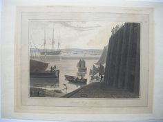 Great Britain Liverpool Seacombe Ferry coloured Lithographie Daniell 1815 | eBay