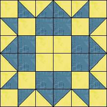 Block of Day - Springtime- strip piecing. Scrappy Quilt Patterns, Barn Quilt Patterns, Pattern Blocks, Half Square Triangle Quilts, Square Quilt, Patch Quilt, Quilt Blocks, Quilting Projects, Quilting Designs