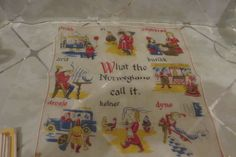 "Vintage Hankie/Handkerchief ""What the NORWEGIANS Call It"" RARE & Great Condition #Unbranded #Novelty #Casual"