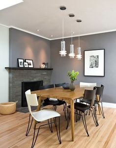 Modern Grey Dining Room Small Dining Room Design Ideas Glamorous Decor Kitchen and Grey Dining Room Paint, Dining Room Colors, Dining Room Wall Decor, Dining Room Design, Contemporary Dining Table, Modern Dining Room Tables, Luxury Dining Room, Dining Table Chairs, Room Chairs