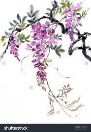 Find Original Art Chinese Watercolor Painting Wisteria Stock Images in HD and millions of other royalty-free stock photos, illustrations, and vectors in the Shutterstock collection. Thousands of new, high-quality videos added every day. Chinese Painting Flowers, Chinese Flowers, Japanese Painting, Japanese Art, Botanical Illustration, Botanical Prints, Watercolor Flowers, Watercolor Paintings, Guache