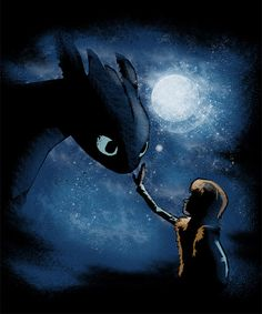 """""""Magic Friendship"""" Hiccup and Toothless"""