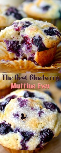 44 Muffin Recipes: Scrumptious Homemade Muffins – Our Best Life Best Blueberry Muffins, Blue Berry Muffins, Blueberries Muffins, Blueberry Cupcake Recipes, Blueberry Breakfast Recipes, Healthy Blueberry Recipes, Sour Cream Muffins, Blueberry Cake, Just Desserts