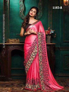 Clothing, Shoes & Accessories Saree Indian Pakistani Ethnic Women Saree Traditional Bollywood Designer Wear Dv