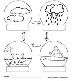 Water Cycle Activities, Kindergarten Math Activities, Kindergarten Class, Science Activities, Science Lessons, Science For Kids, Kids English, Teaching Aids, Teaching Materials