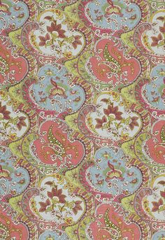 Fabric | Pickfair Paisley in Multi | Schumacher