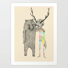 We're 01 Art Print by auntikatar - $17.00
