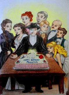 """The Phantom's Domain SURPRISE, Erik!! Today is the day we have chosen to celebrate you! Happy """"Birthday,"""" my dear old friend!--Antoinette"""