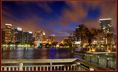 Orlando, Florida skyline -is one of the top cities with a slice of Pizza.