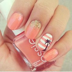 Palm tree More - #accentnails #accent #nails