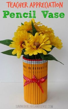 Diy teacher gift pencil vase pencil vase appreciation gifts and teacher appreciation gift pencil vase solutioingenieria Image collections