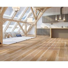 Maple Hardwood Floors, Engineered Hardwood Flooring, A Frame Cabin, A Frame House, Attic Apartment, Attic Rooms, Small Attic Room, Cabana, Rustic Design
