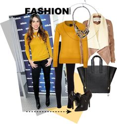 """""""Black and yellow"""" by camilovesfashion on Polyvore"""
