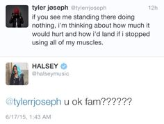 for some reason this makes my heart a lil sad<<<but halsey's reaction tho