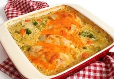 Chicken, Rice, and Vegetable Casserole Recipe from RecipeTips.com!