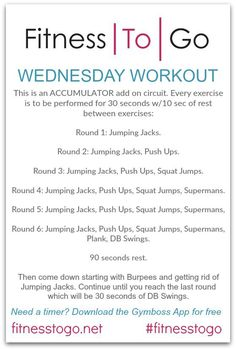 The ACCUMULATOR Wednesday Workout. Circuit Style HIIT Workout. Quick and effective equipment free strength and cardio workout that can easily be done at home or in the gym!