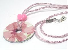 Upcycled Metal Washer  Floral Necklace 22 by cynhumphrey on Etsy, $18.99