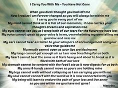I Carry You With Me - You Have Not Gone | The Grief Toolbox