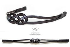 Carric Bend Leather knot browband by HappyNightmares on Etsy