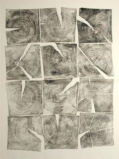 Brian Nash Gill - Woodcut, Check, 2006