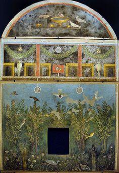 Ancient Roman fresco from the House of the Golden Bracelet, Pompeii, Italy via Wikimedia Commons (author Stefano Bolognini).