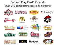 Orlando Eat and Play Card! £12 for up to 25% discount at several restaurants for the whole time were there, including Friendly's and TGI Fridays!