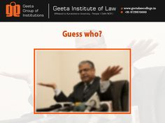 Guess who? Hint: He is a highly acclaimed lawyer, who fought on behalf of the state of Mumbai in the Mumbai terrorist attacks case, besides the big case of 1993 Bombay Blasts. #GIL #GeetaInstituteofLaw #Law #Quiz #AdmissionsOpen2016