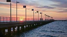 Frankston Pier at sunset. Melbourne, Victoria Australia, Sunset, City, Travel, Viajes, Cities, Destinations, Sunsets