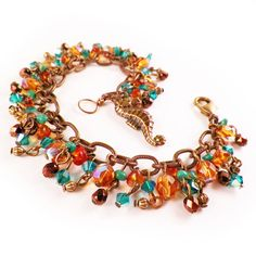 Amber & Turquoise Seahorse Bracelet  Chinese by ModernDayMiracles, $42.00