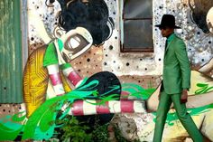 Ozwald Boateng: I love Soweto African Men, African Fashion, African Style, Importance Of Creativity, Ozwald Boateng, Dandy Style, Men's Style, Contemporary African Art, Green Suit