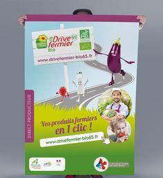 Drive Fermier – Chambres d'Agriculture Midi Pyrénées – Sud Ouest France | AGITEO, agence de communication et de publicité, Toulouse