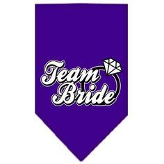 Team Bride Screen Print Bandana Purple Small