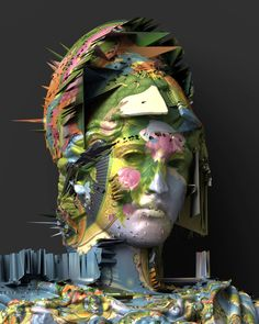 Mark Klink, Athena001, 2015   See more art on iheartmyart.com   #art   #glitch   #glitchart   #digitalart   #3d   #artist