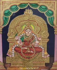 Mysore Painting, Madhubani Painting, Traditional Paintings, Traditional Art, Yashoda Krishna, Foot Prints, Miniatures, Indian, Karnataka