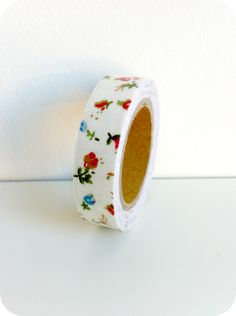 Fabric tape flores rojas - Shop We Love Parties Bcn