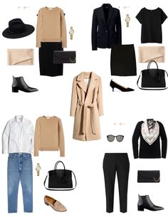 WardrobeCapsule Wardrobe Autumn Capsule Wardrobe Workwear Outfit Options How to Dress Up a Sweater for The Office French Capsule Wardrobe, Classic Wardrobe, Work Wardrobe, Classic Outfits, Capsule Outfits, Fashion Capsule, Mode Outfits, Travel Outfits, Travel Fashion