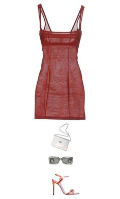 """Untitled #3192"" by beststylist ❤ liked on Polyvore featuring Christian Dior, Gucci and Wolford"