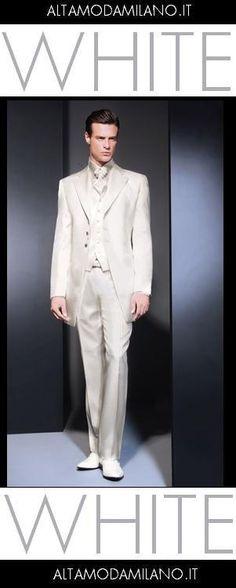 ABITI SPOSO BIANCHI ARGENTO Abiti sposo su misura collezione cerimonia uomo  2013 milano NOVIAS 712926d3366
