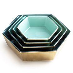 Rosanna Jet Setter Hexagon Nesting Dish Set of 4 #zincdoor