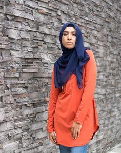 Aina Basic Blouse (Metal Zip) - Brownish Red - Ramadhan Sale - Modest Maxi Dress Islamic Fashion Modest Maxi Dress, Tunics, Blouses, Red Tops, Islamic Fashion, Modest Fashion, Zip, Metal, Collection
