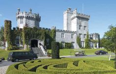 Dromoland Castle in Ireland is a hotel! The rooms, grounds, and gardens are amazing.
