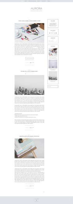Aurora Free Blogger Template by Maira G